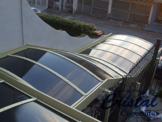 Cobertura Policarbonato Alveolar - Condominio (Escadaria)